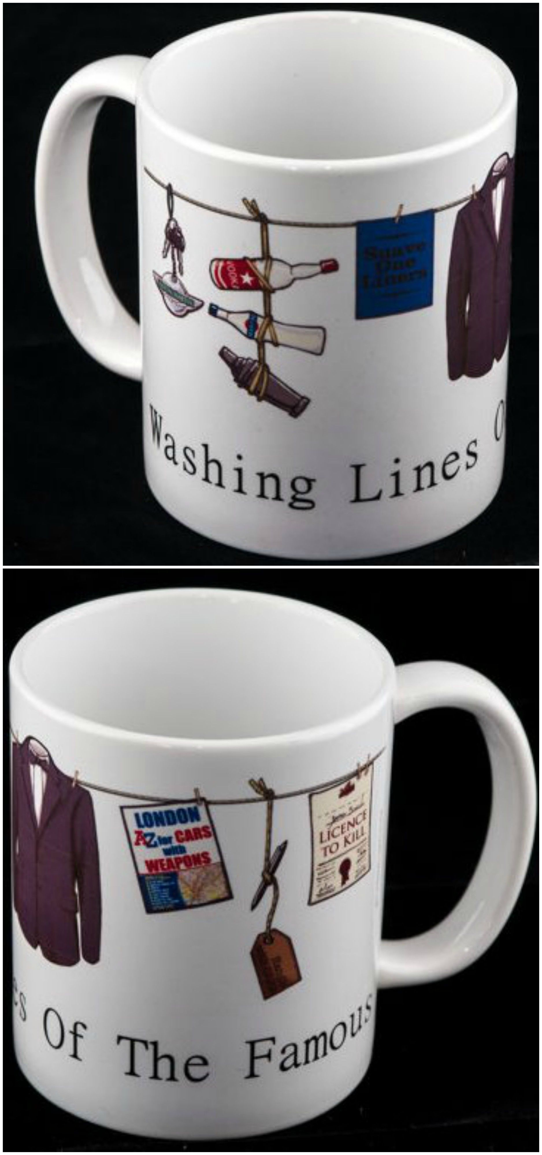 James Bond...Clothes Lines of the Rich & Famous coffee mug