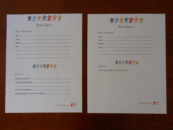 6 Creative Printable Book Report Template Pinterest Book report