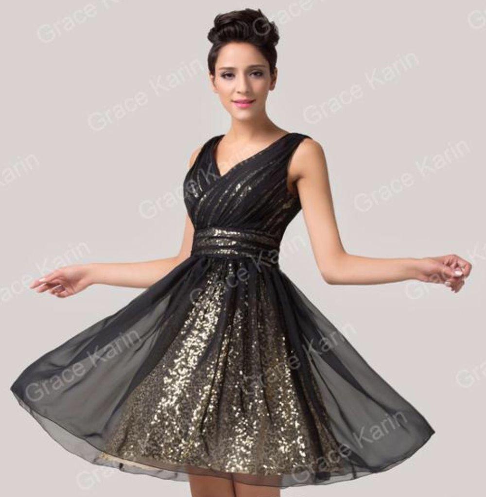Vestido elegante preto e dourado via Vestido de sonho. Click on the image to see more!