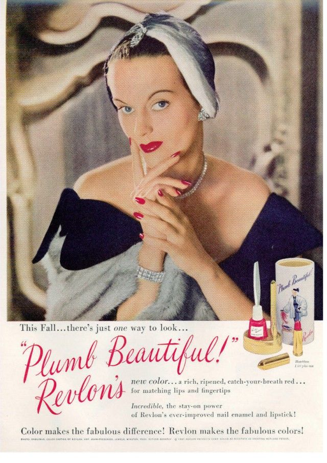 Makeup & Hair Of The 1940's | Ad, Vintage and Revlon