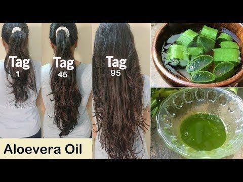 Photo of Olio per capelli fatto in casa con Aloe Vera per una doppia crescita dei capelli, capelli lunghi e nessuna perdita di capelli!