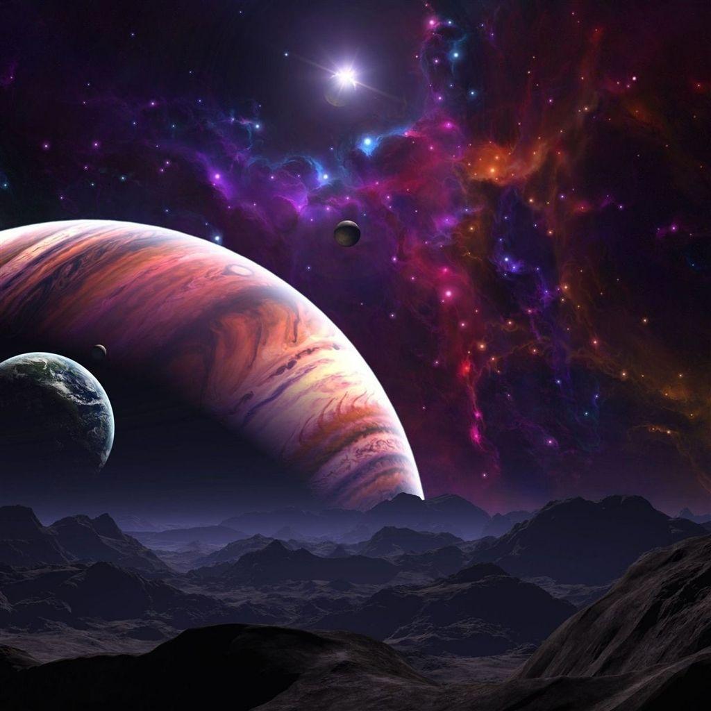 Wallpaper Space: Space Star Planet #iPad #Air #Wallpaper