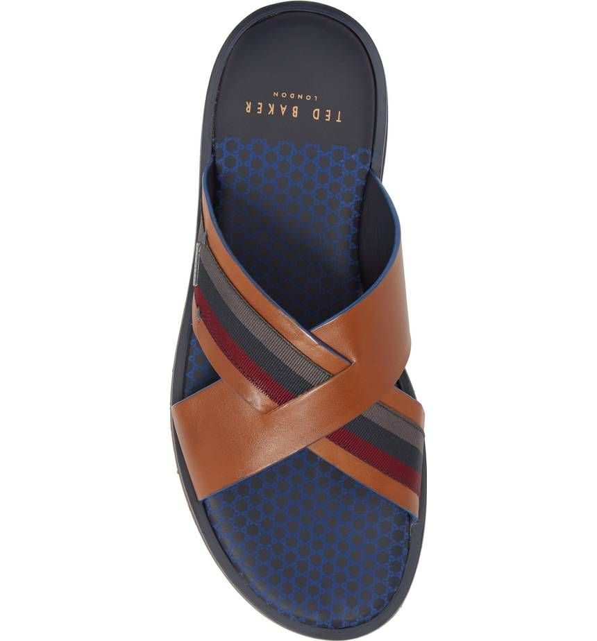 b6ca68cb9 Main Image - Ted Baker London Farrull Cross Strap Slide Sandal (Men ...