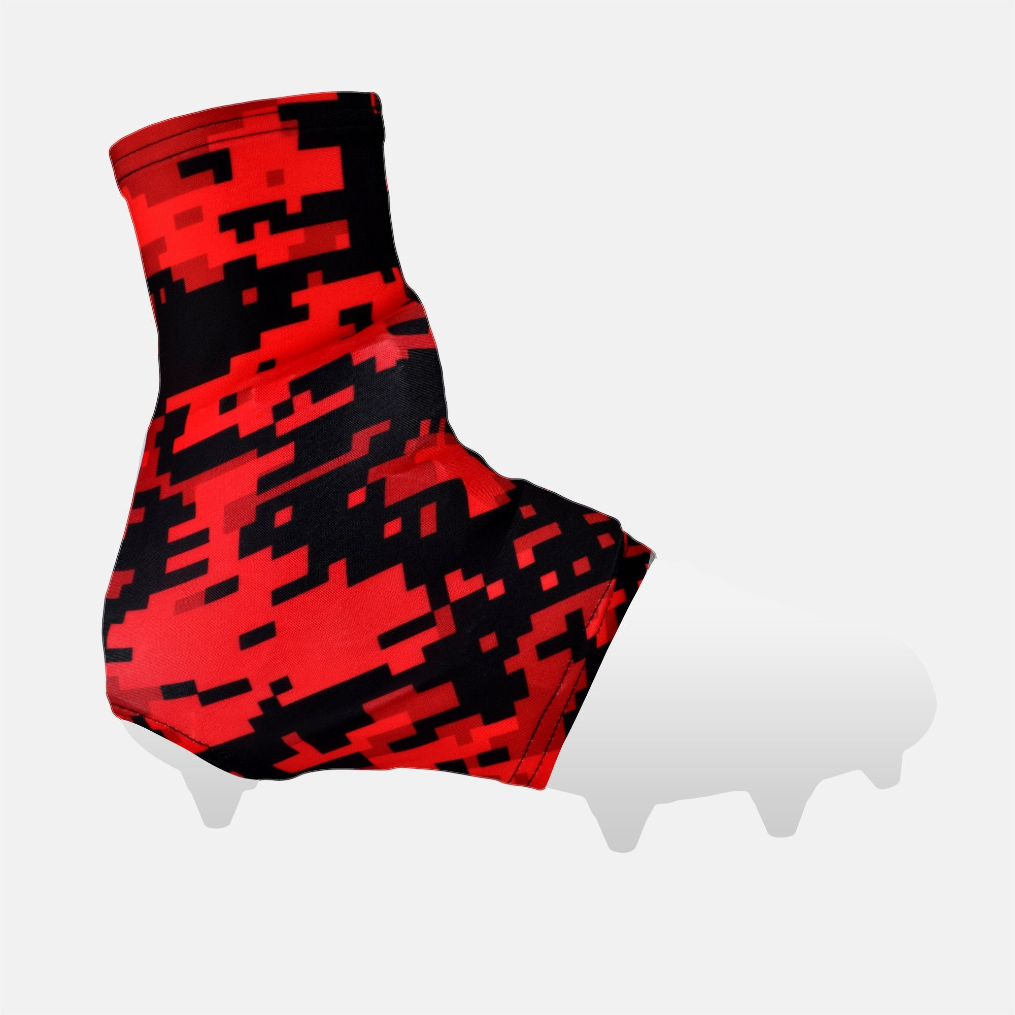 Digital camo red beast spats cleat covers camo and red