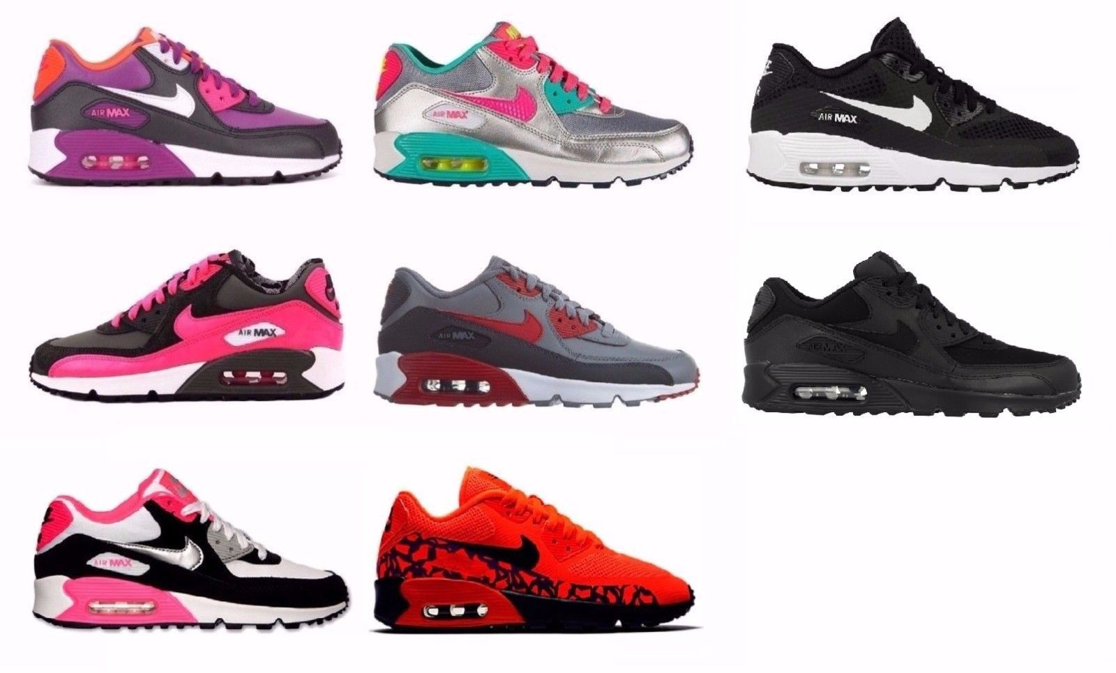 reputable site fa0b0 2c93b ... wholesale girls shoes 57974 nike air max 90 kids youth athletic shoes  345017 833412 97368 d1348