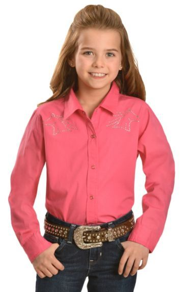 25e739a94f5239 Cumberland Outfitters Girls  Rhinestone Horse Western Shirt - 5-16  available at  Sheplers