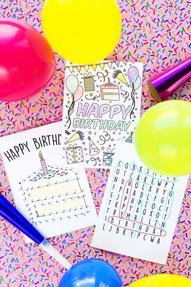 Free Printable Birthday Cards For Kids Studio Diy Pinterest