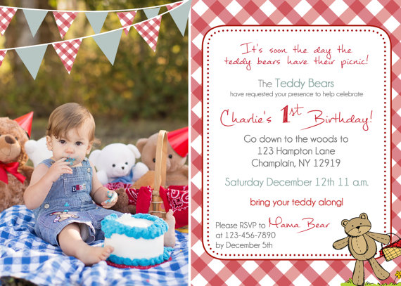 Teddy bear picnic birthday invitation you print by justmeprints teddy bear picnic birthday invitation you print by justmeprints filmwisefo