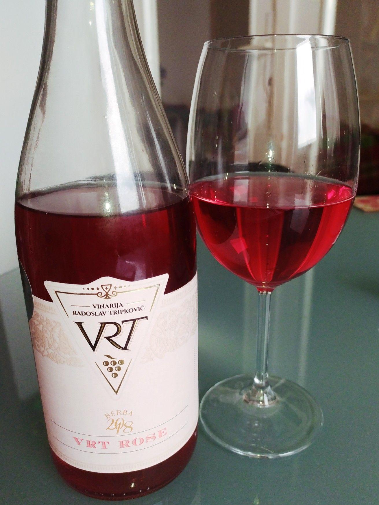 Rose Wine Vrt Winery Sombor In 2020 Rose Wine Wine Wine Bottle