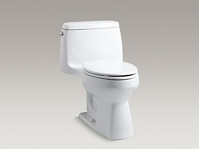 Kohler K 3811 0 Santa Rosa Comfort Height One Piece Compact Elongated 1 6 Gpf Toilet With Aquapiston One Piece Toilets Bathtub Shower Remodel Toilet Tank