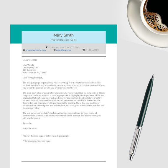 Resume Template Package One-Page \ Two-Page Resume by APLAdesign - two page resume