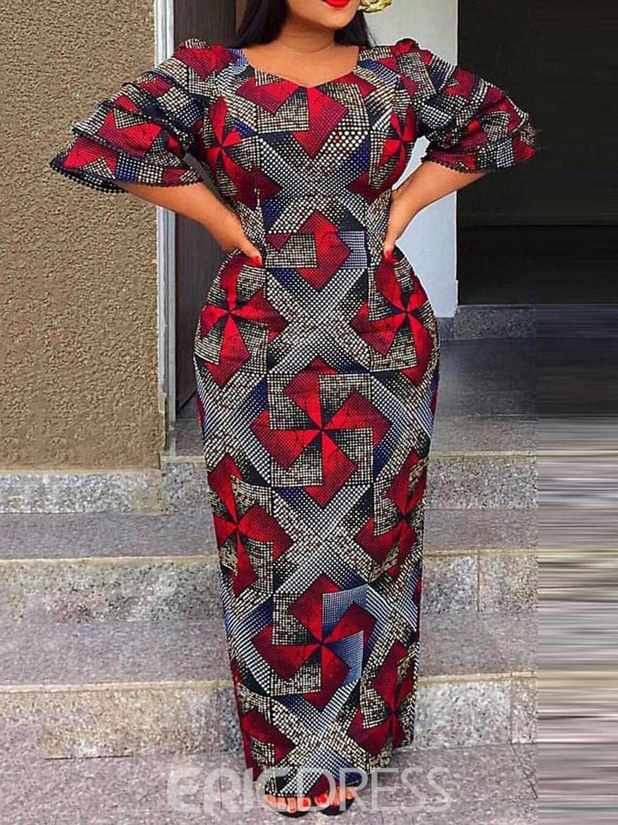 Ericdress African Fashion Floor-Length Color Block