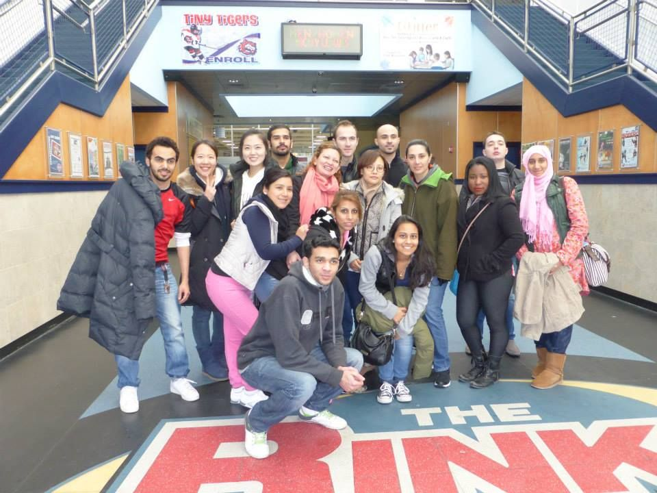 From Central Connecticut State University Intensive English Program -  A great field trip today to the Sports Center in Shelton, CT! http://studyusa.com/