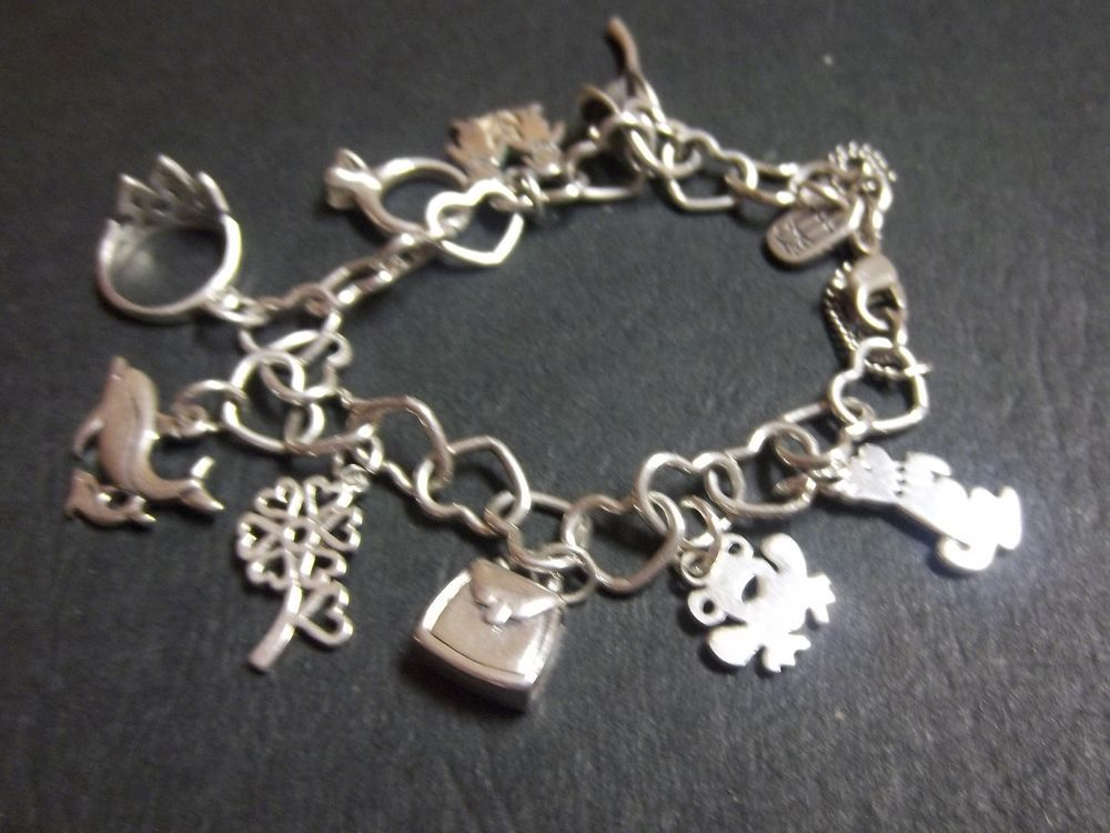 9912a92184d14 Details about James Avery Sterling Silver Connected Hearts Charm ...