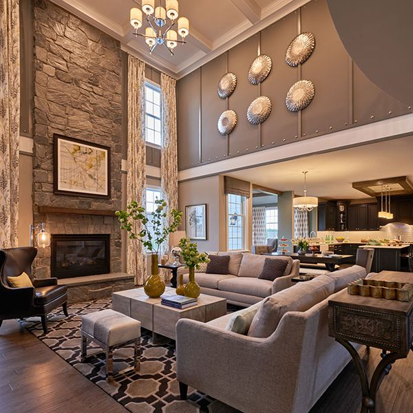 It 39 s model home monday and we 39 re loving this look at liseter farms by toll brothers dream home for Interior design model homes pictures