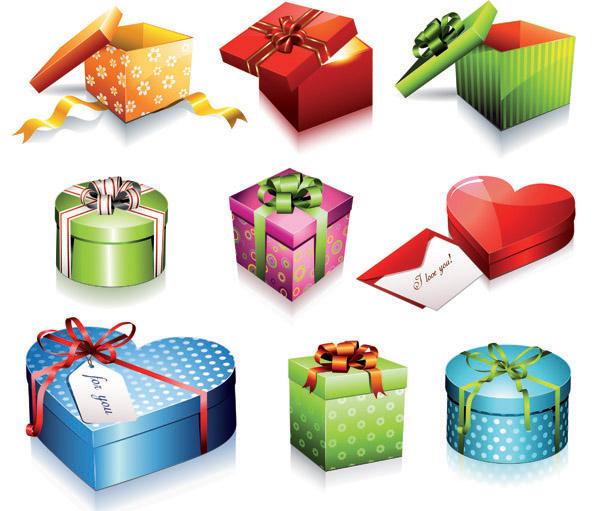 节日礼盒矢量图各种形状精美节日礼盒矢量素材下载 素材之家 In 2020