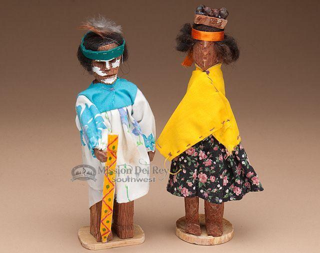 Tarahumara Indian Carved Wooden Dolls 8 (d2) #indianbeddoll Travel #indianbeddoll