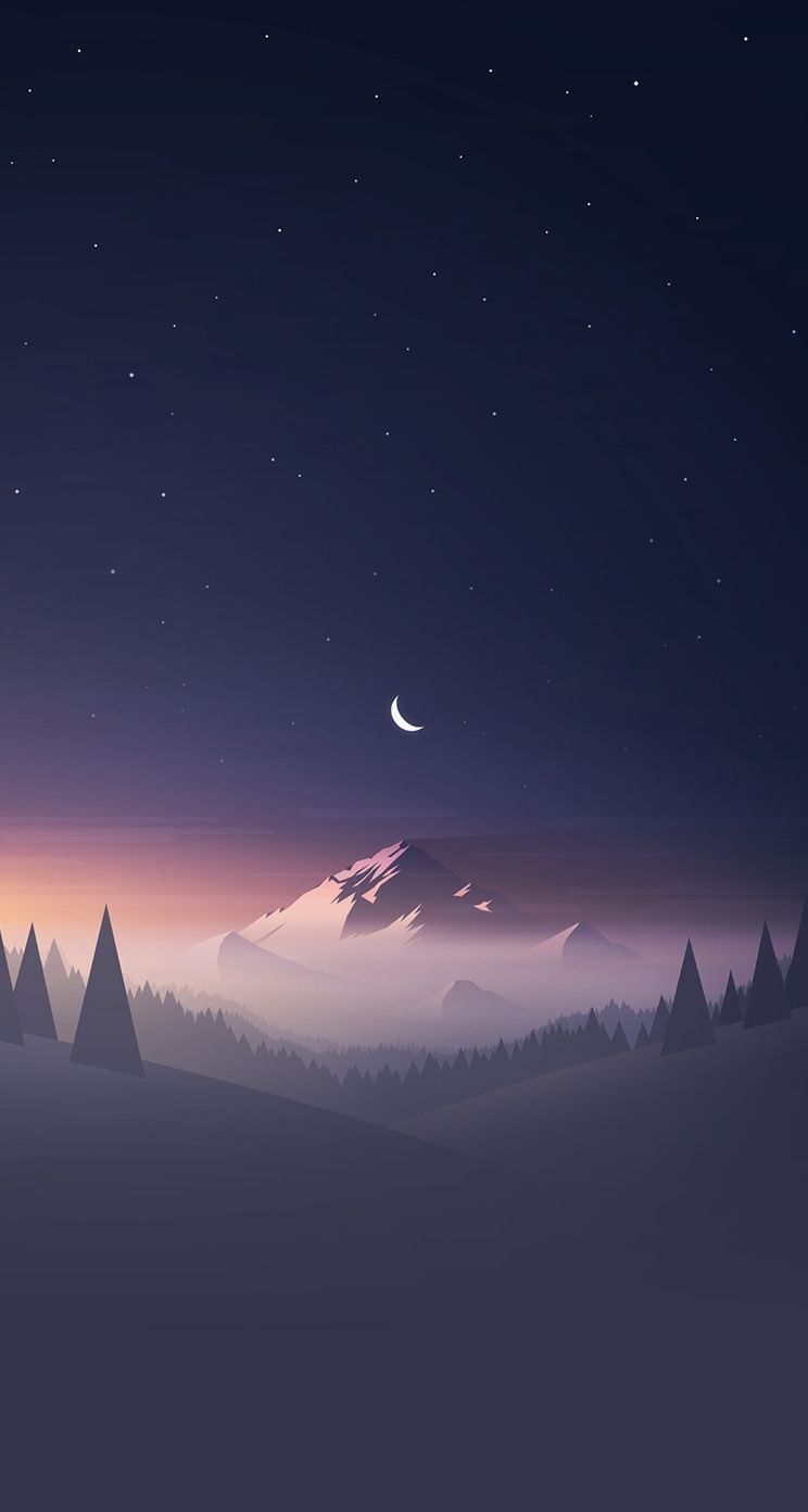 Mountain Stars Moon Iphone Wallpaper Best Iphone Wallpaper Scenery Wallpaper Landscape Wallpaper Anime Scenery Wallpaper