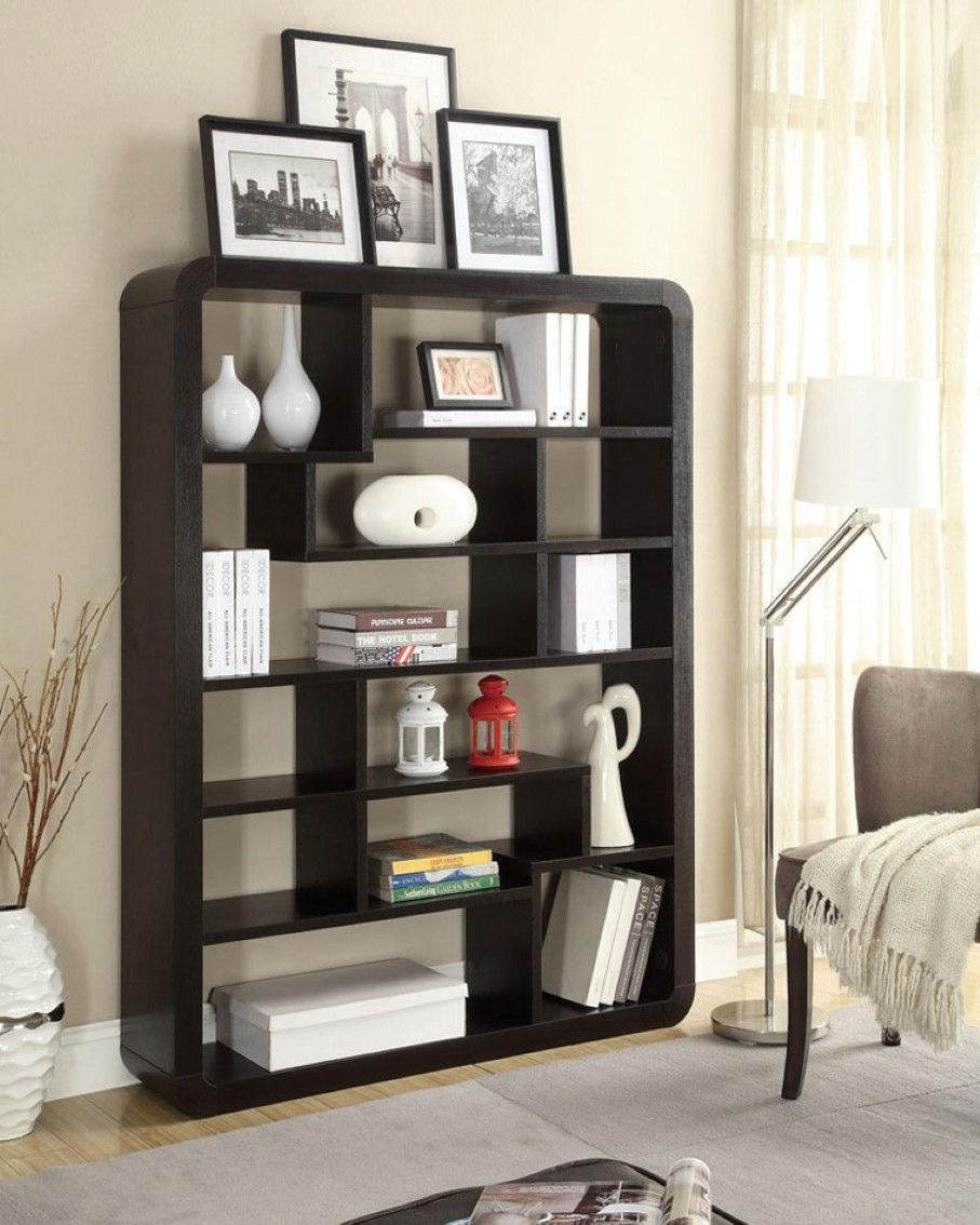 modern floor lamp design feats gray area rug and fabulous bookshelf rh pinterest com Living Rooms with Dark Carpet Brown Walls Living Room