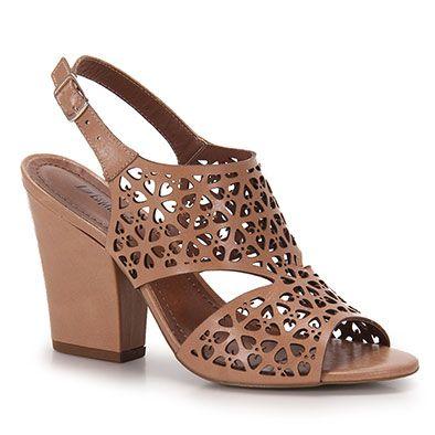 40b20901a4 Sandália Salto Feminina Desmond - Nude | Trabalhar | Sapatos, Saltos ...