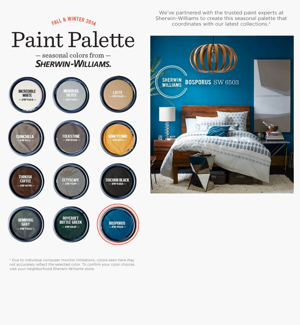 2014 Paint Colors 2014 fall/winter west elm paint color collection. some great