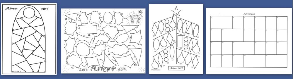 There Is Still Time To Download An Advent Calendar Template Advent