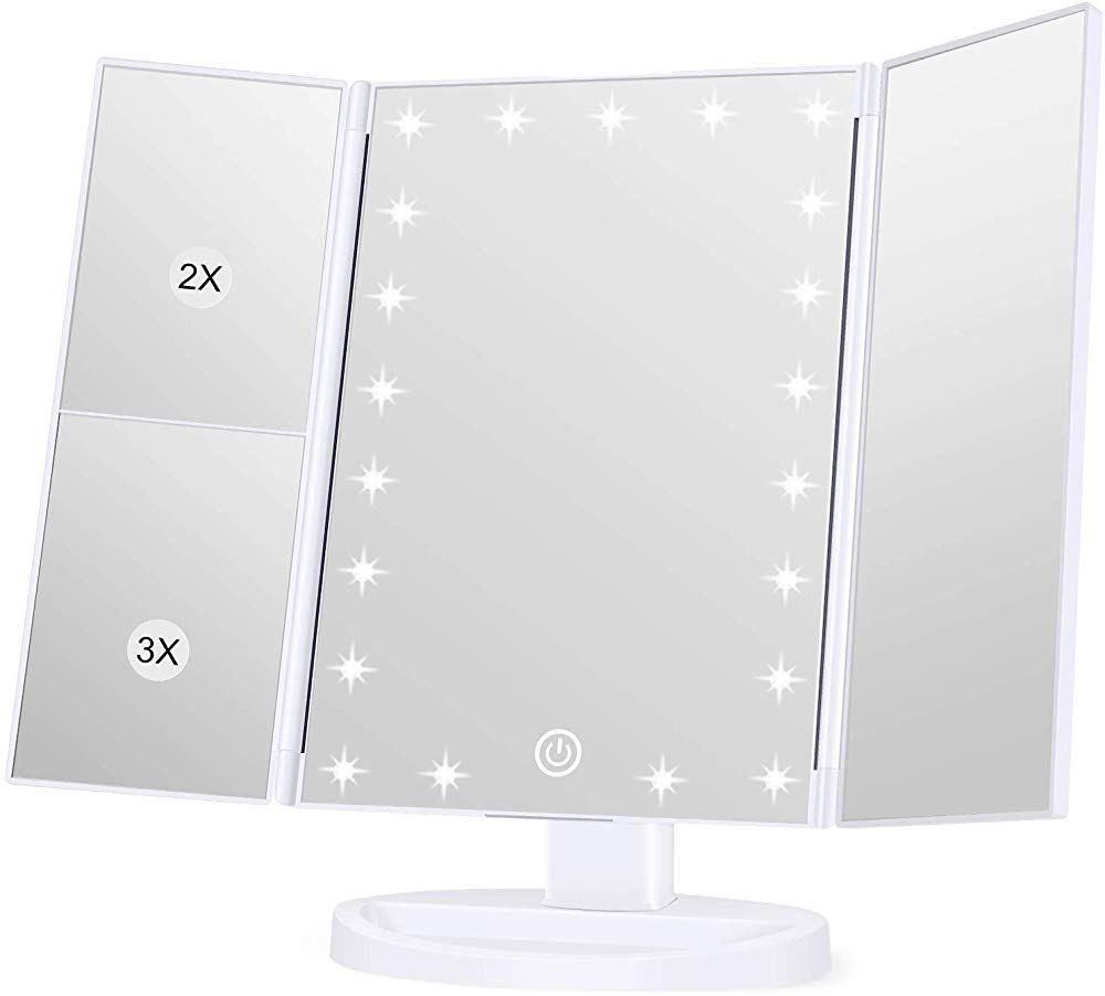 Koolorbs Makeup 21 Led Vanity Mirror With Lights 1x 2x 3x Magnification Touch Screen Switch 180 Degree Rotation Dual Po Makeup Mirrors Makeup Mirror Led Vanity