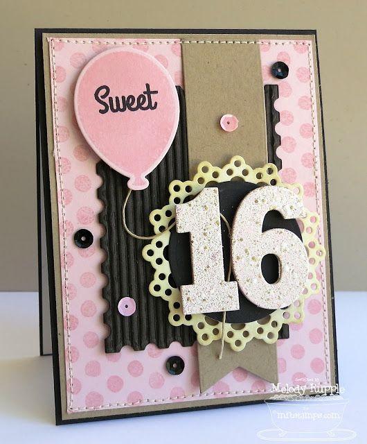 A Paper Melody Girl Birthday Cards 16th Birthday Card Birthday Card Printable