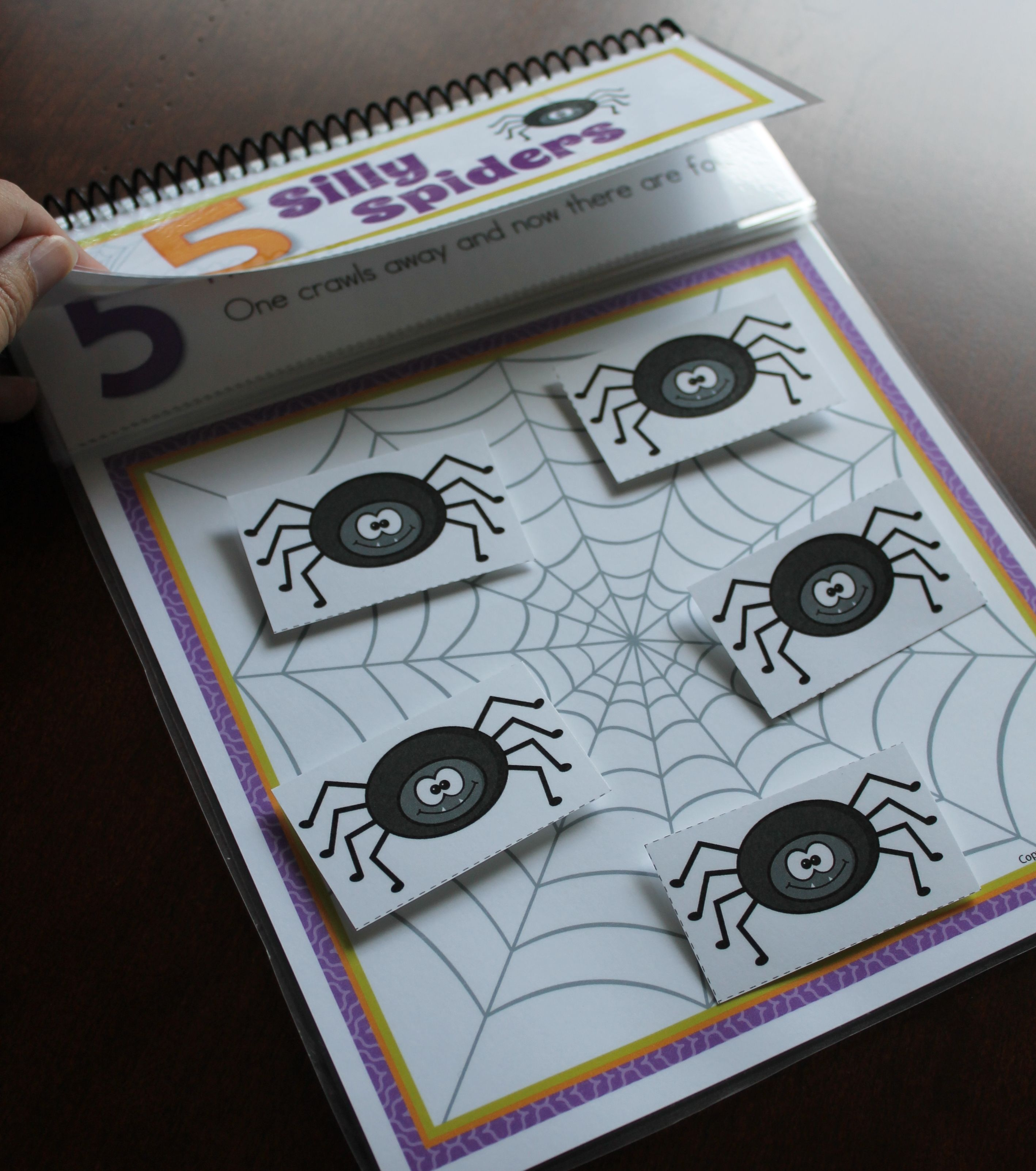 Spiders Interactive Counting Book: Five Silly Spiders Interactive ...