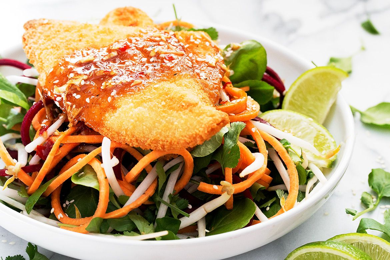 Thai Inspired Salad Boneless pork loin recipes, Sole recipes