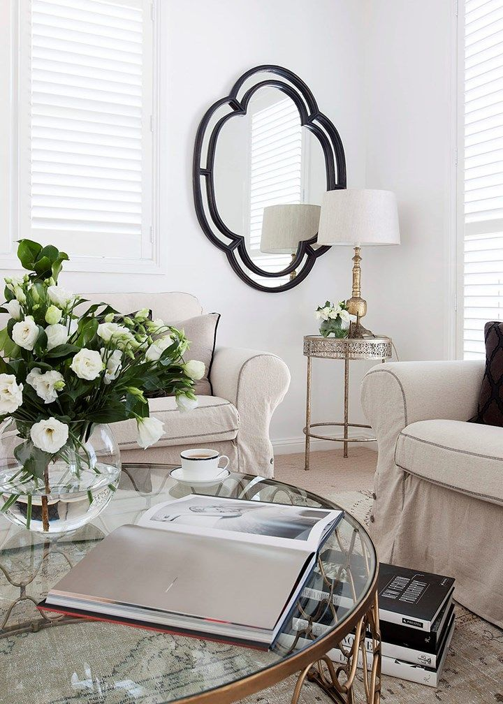 Hamptons-style living room makeover Pinterest Sitting rooms