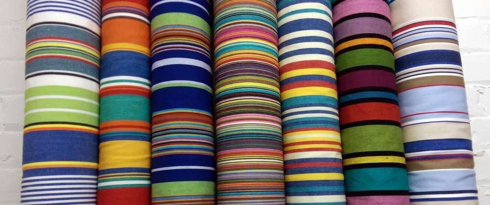 Ideally Suited For Upholstery, Making Curtains, Roman Blinds And Soft  Furnishings. Yarn Dyed Cotton In Over 60 Bold And Beautiful Stripe  Colourways UK