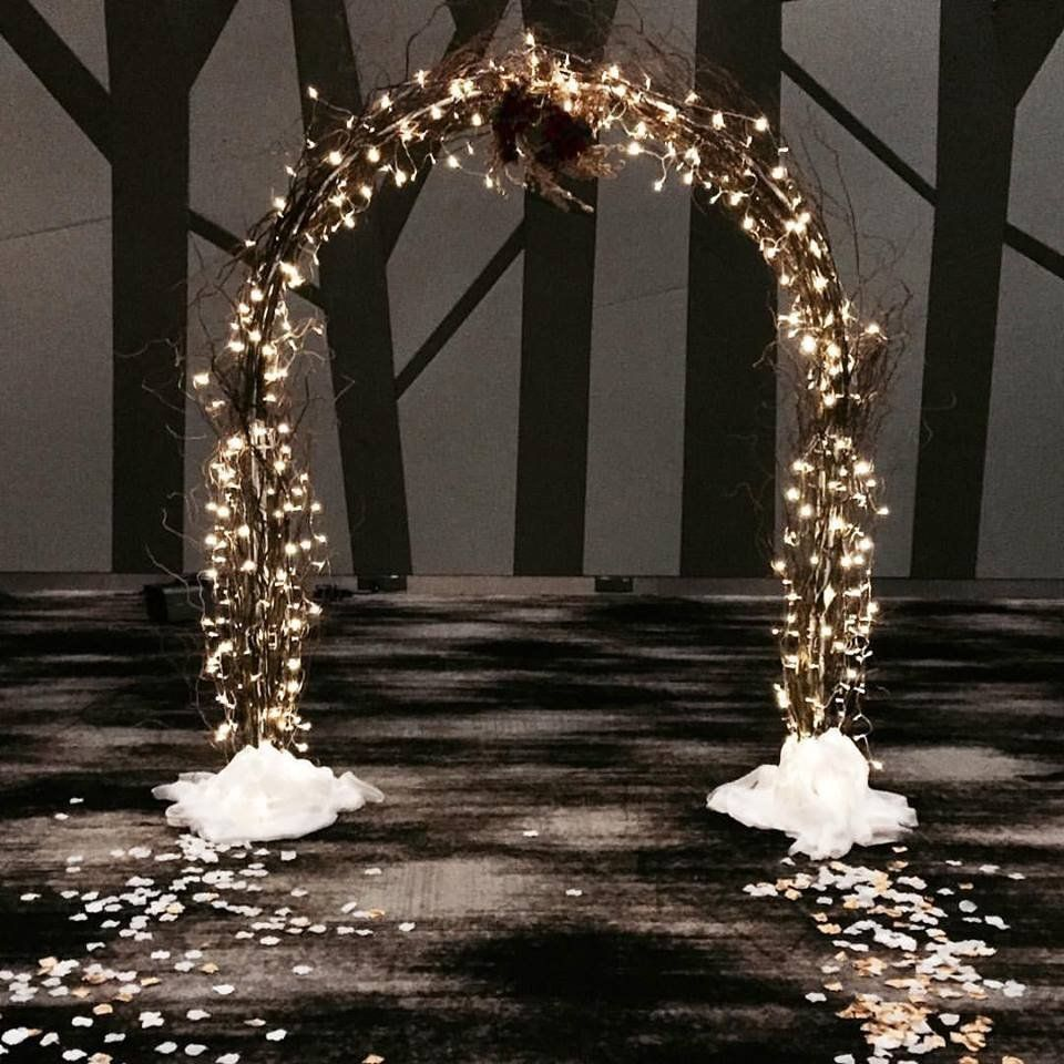 Wedding Decor Rental Singapore: Fairy Light Arch With Willows