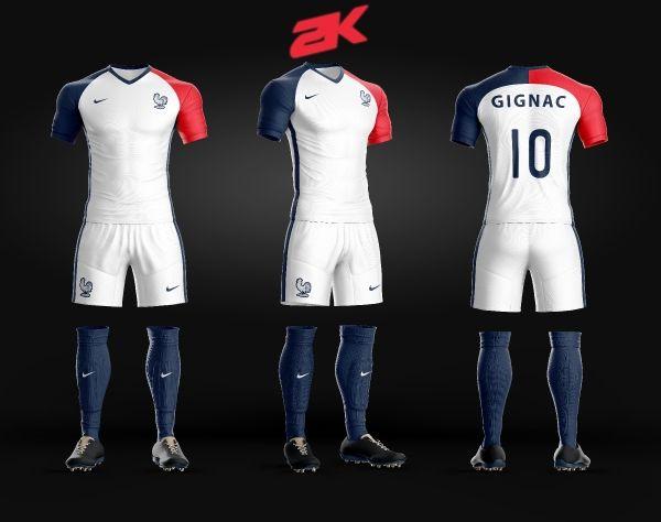 Download France Away Kit Recreated Soccer Uniforms Design Soccer Kits Sports Jersey Design