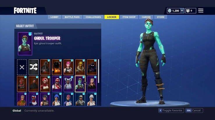 Random Fortnite Accounts With Guaranteed 10 Skins 4 Ghoul Troopers