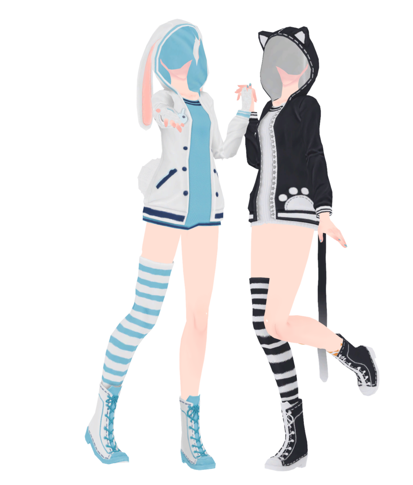 mmd hoodies dl by unluckycandyfox deviantart com on deviantart