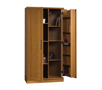 Sauder Homeplus Deep Storage Cabinet Sienna Oak Storage Cabinet Shelves Storage Shelves Deep Storage Cabinet