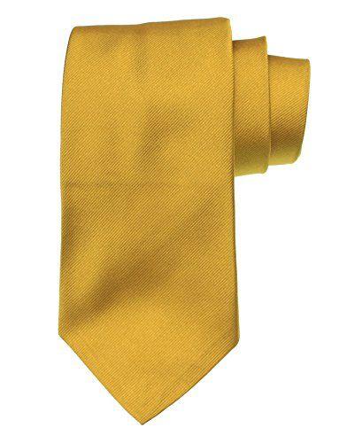 9c5ee6e97300 Polo Ralph Lauren Men's Solid Gold / Mustard Yellow Silk Tie Necktie http://