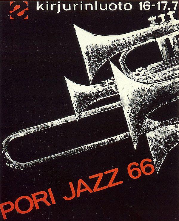 First Pori Jazz poster 1966. Finland.