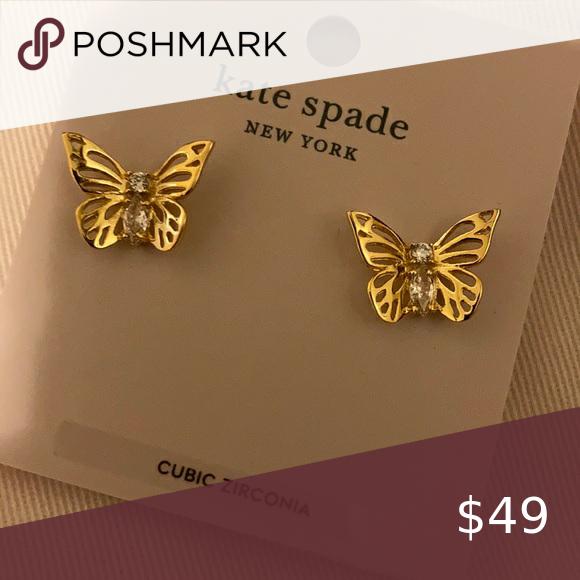 Kate Spade Social Butterfly Earrings Kate Spade Social Butterfly Earrings Kate Spade Jewelry Ea Butterfly Earrings Kate Spade Jewelry Earrings Social Butterfly