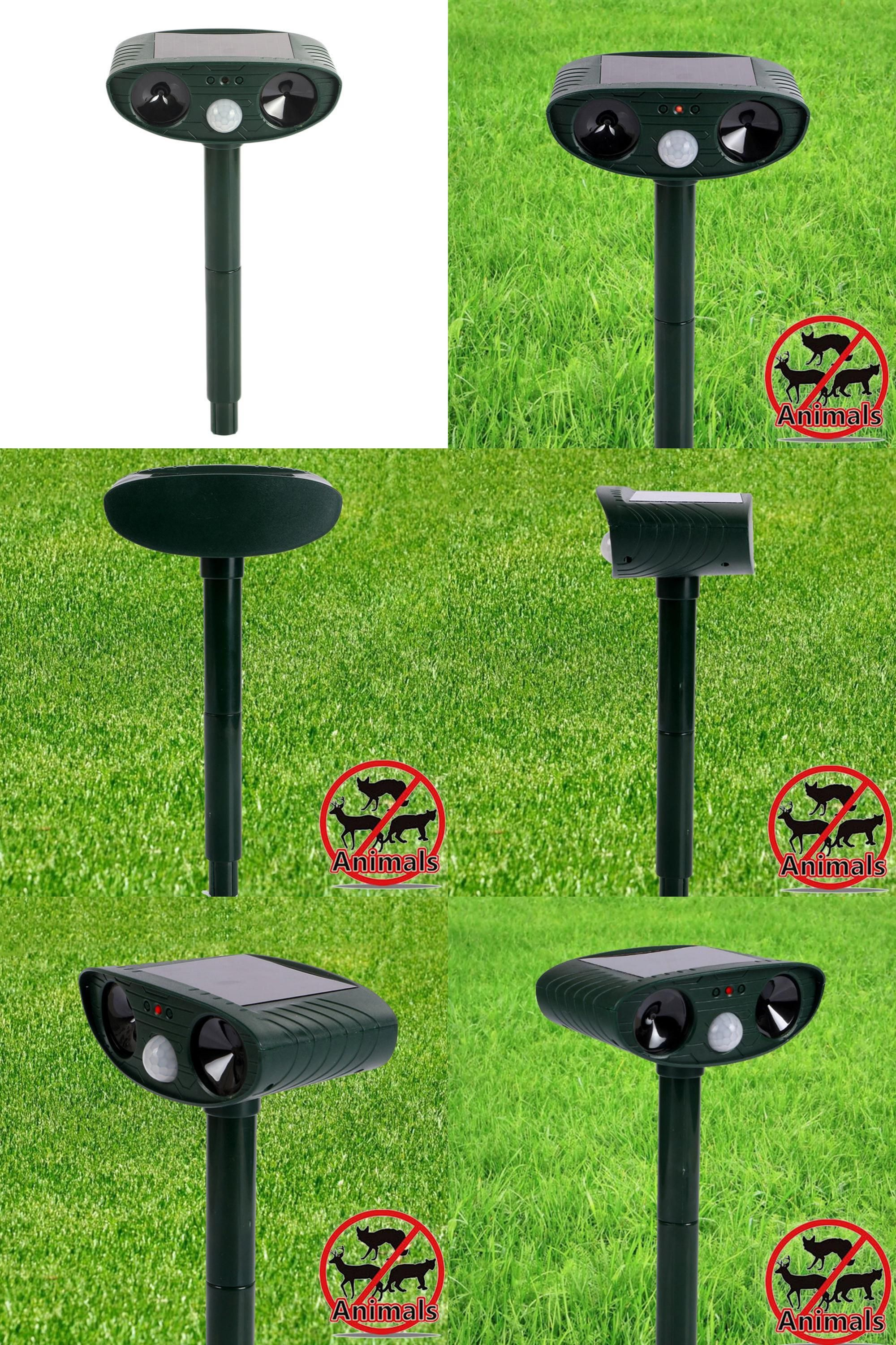 Visit To Buy Outdoor Solar Power Ultra Sonic Rats Mice Animal Powered Scarer Insect Birds Pest Repeller Repellent