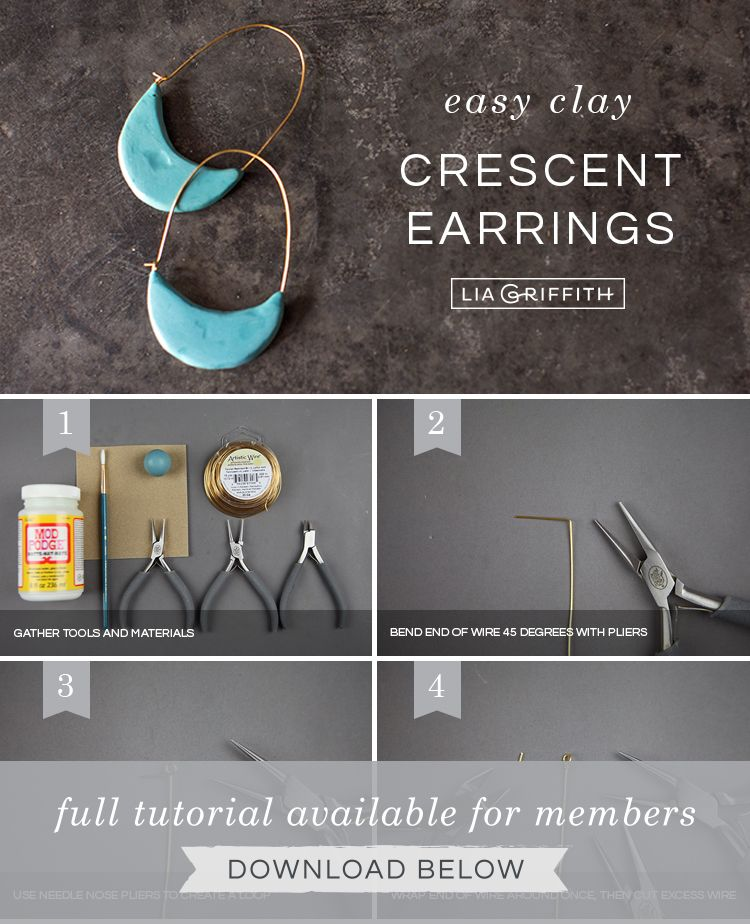 cec4bbd40b7af Photo Tutorial: How to Make Polymer Clay Earrings | jewelry ...