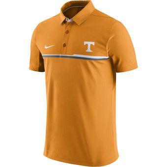 Nike Tennessee Volunteers Gray Elite Coaches Sideline Performance Polo #vols  #volunteers #tennessee
