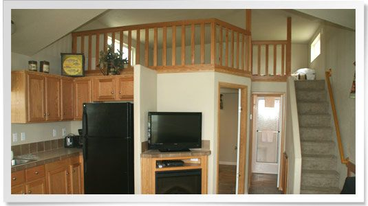 Park model homes park model rvs love the stair case and for Rv with loft