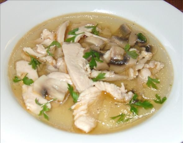 Chicken And Mushroom Soup Low Carb Chicken Soup Soup Recipes Recipes