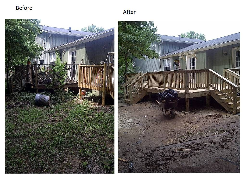 12 X 27 Ft Deck Before And After 7 13 Outdoor Decor Home Deck