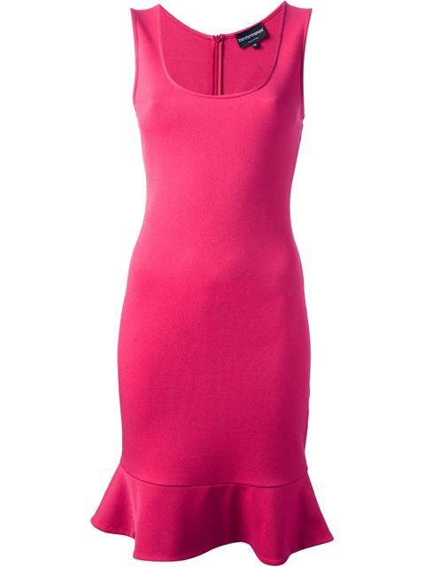 Emporio Armani sleeveless dress. Hot pink.