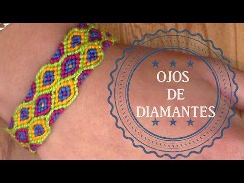 Pulsera de Hilo: Ojos de Diamantes
