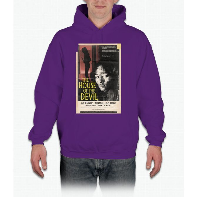 The House Of The Devil Movie Poster Tee Bee Movie Hoodie