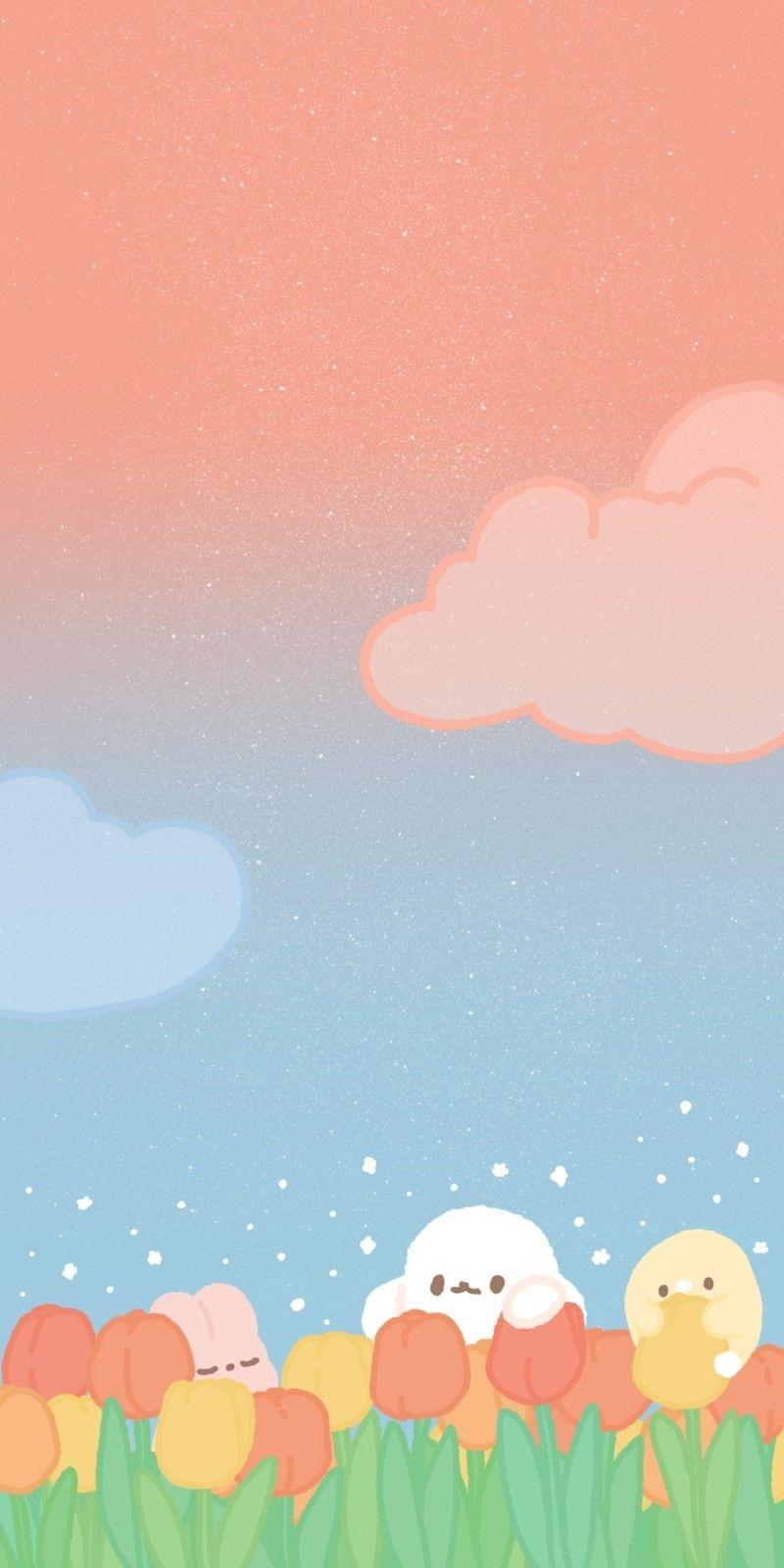 [ 배경화면 ] 튤립속 도레미
